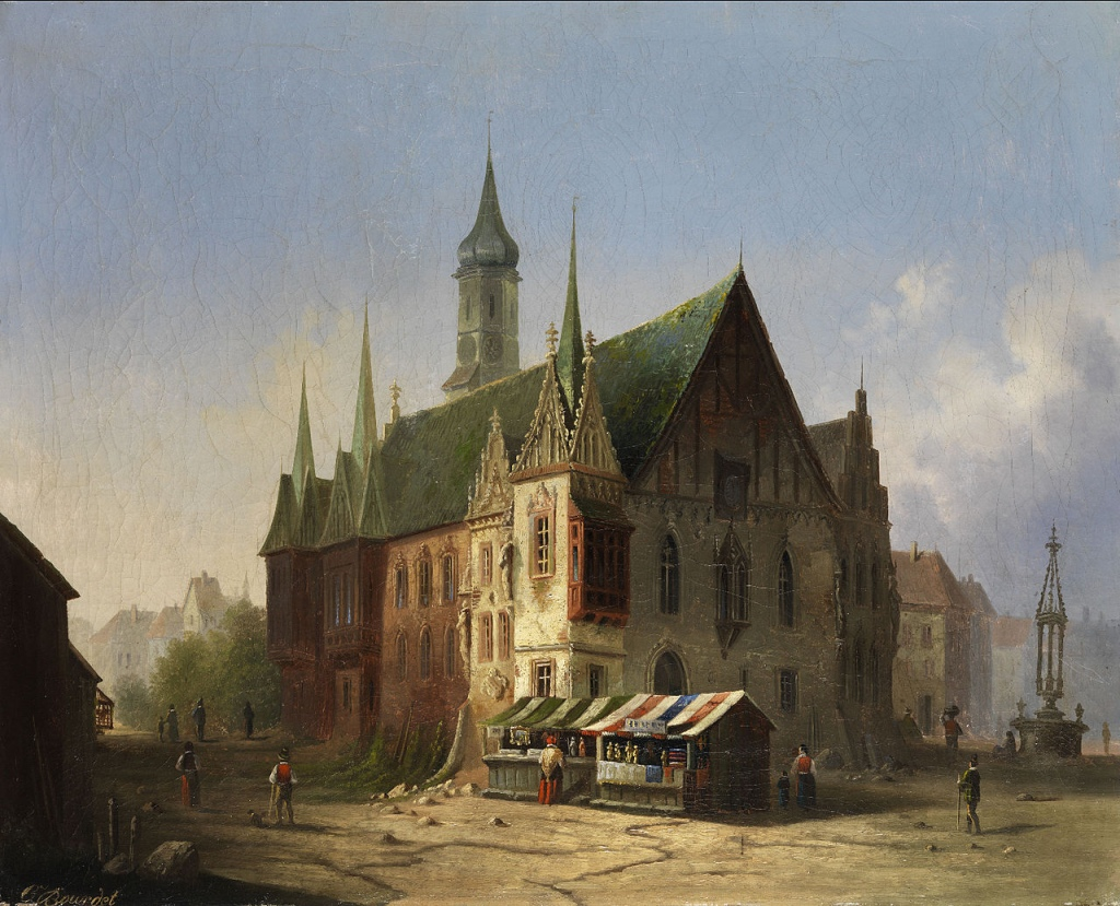 Old Town Hall in 1800