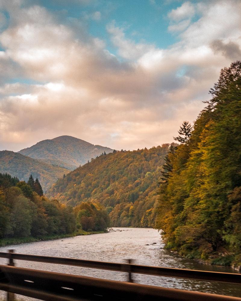 Orava River in autumn